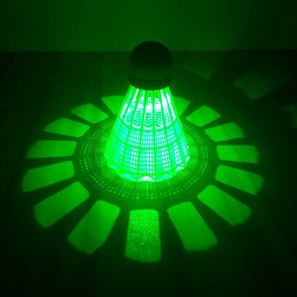 ZHENAN LED Badminton Shuttlecocks green