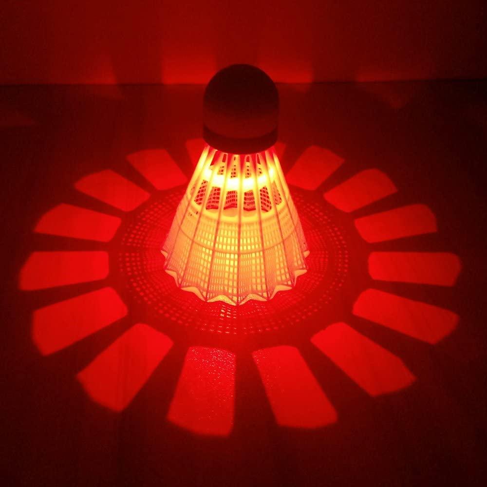 ZHENAN LED Badminton Shuttlecocks red