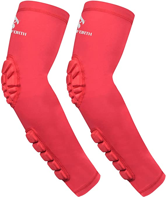 HOPEFORTH Padded Elbow Forearm Sleeves pink