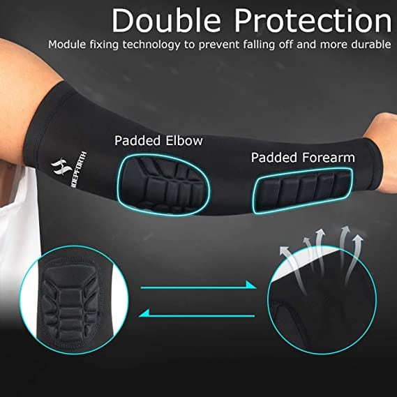HOPEFORTH Padded Elbow Forearm Sleeves top 5 volleyball padded arm sleeves