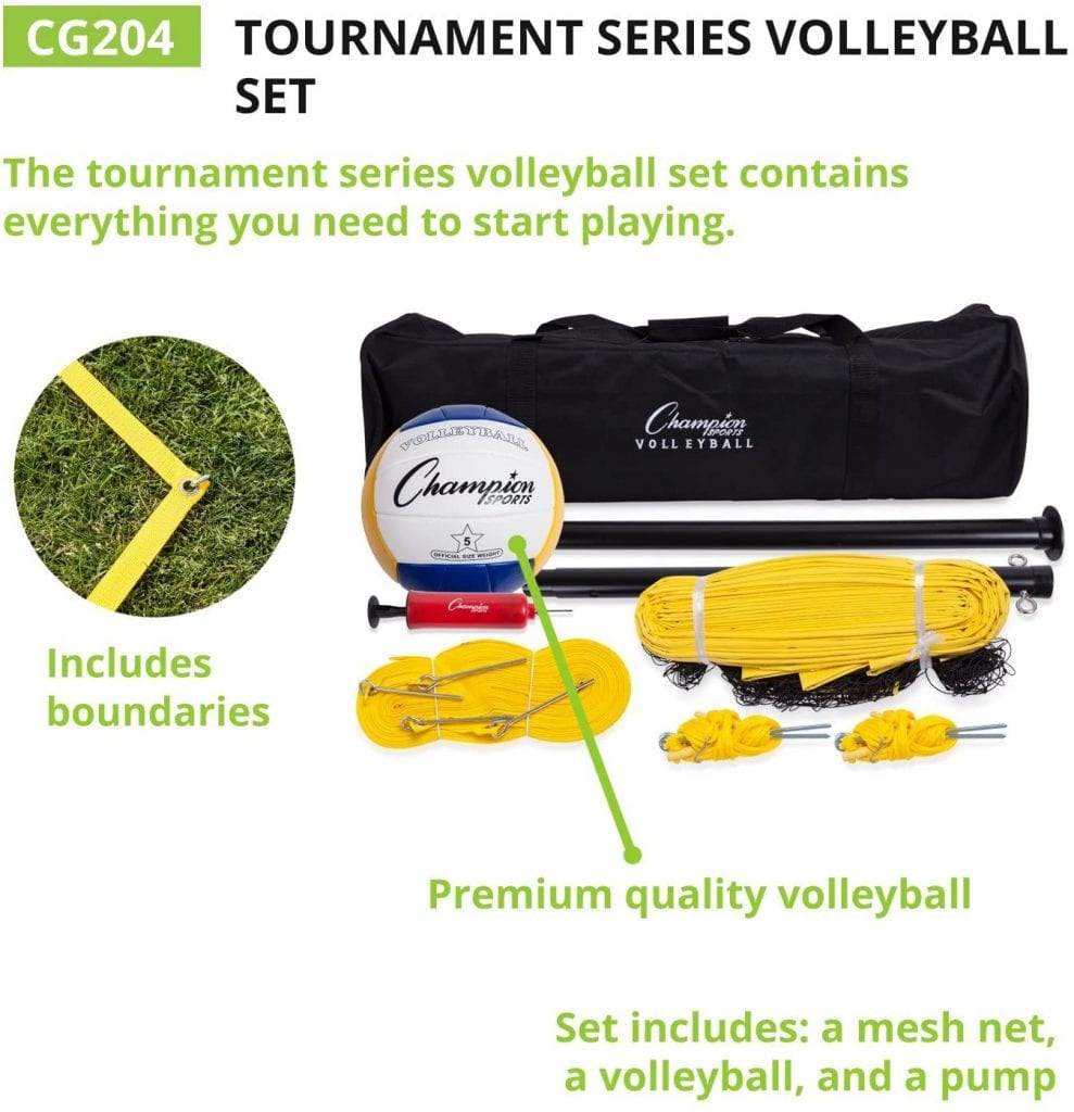 Champion Sports Deluxe Outdoor Game Sets inclusion