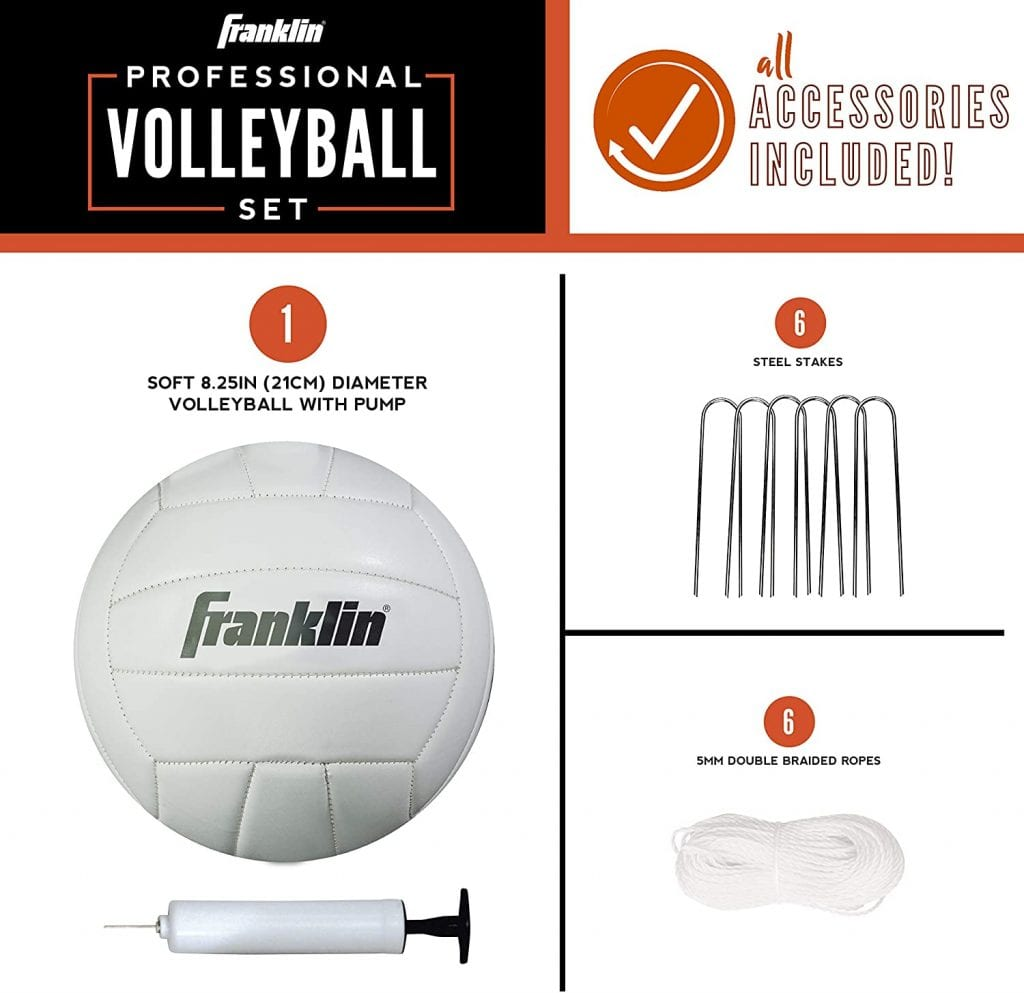 Franklin Sports Volleyball Net and Ball Set accessories