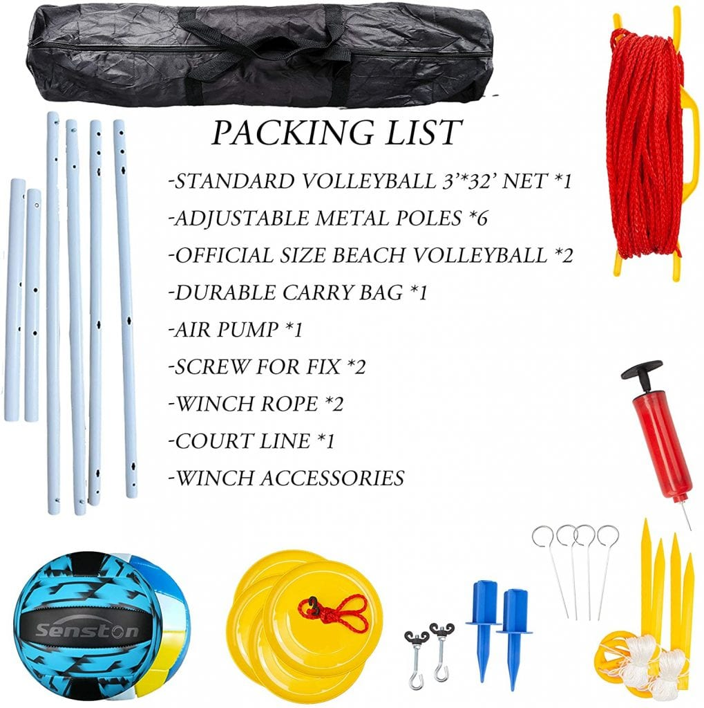 Senston Outdoor Volleyball Net System list
