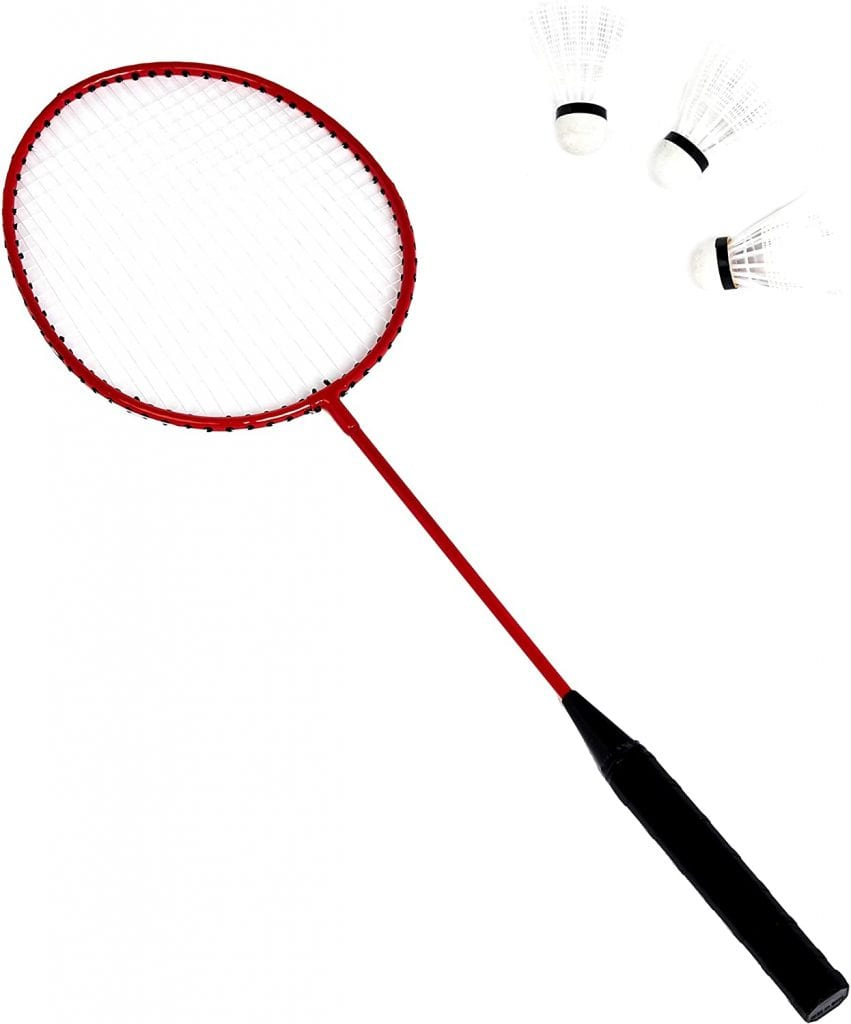 AmazonBasics Outdoor Volleyball and Badminton Combo Set badminton