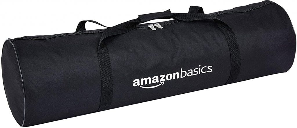 AmazonBasics Outdoor Volleyball and Badminton Combo Set bag