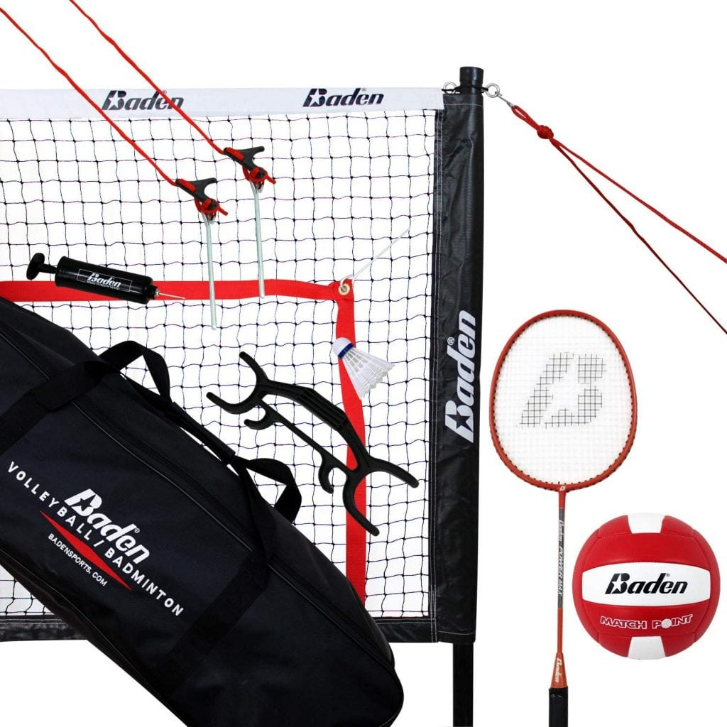 Baden Champions Volleyball Badminton Combo Set