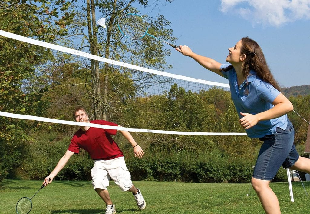 EastPoint Sports Deluxe Volleyball Badminton Net Set badminton