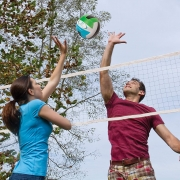 EastPoint Sports Deluxe Volleyball Badminton Net Set volleyball