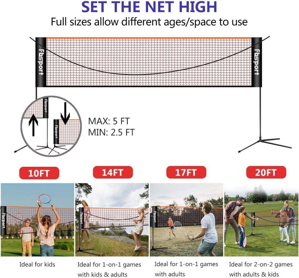 FBSPORT Portable Badminton Nets