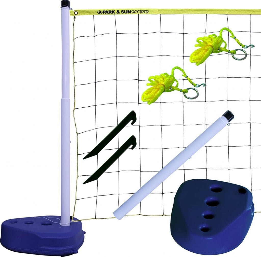 Park and Sun Sports Portable Indoor Outdoor Swimming Pool Volleyball Net Set