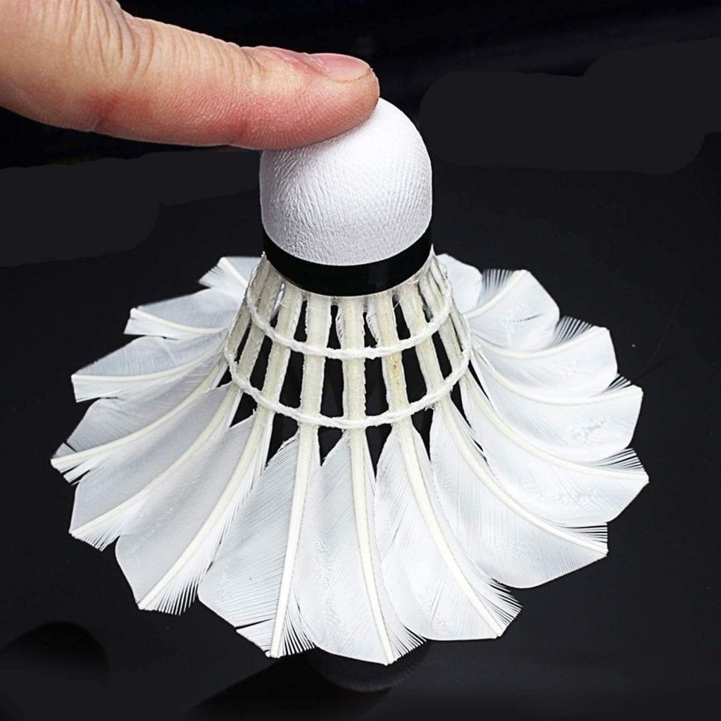 Portzon Goose Feather Badminton Shuttlecock