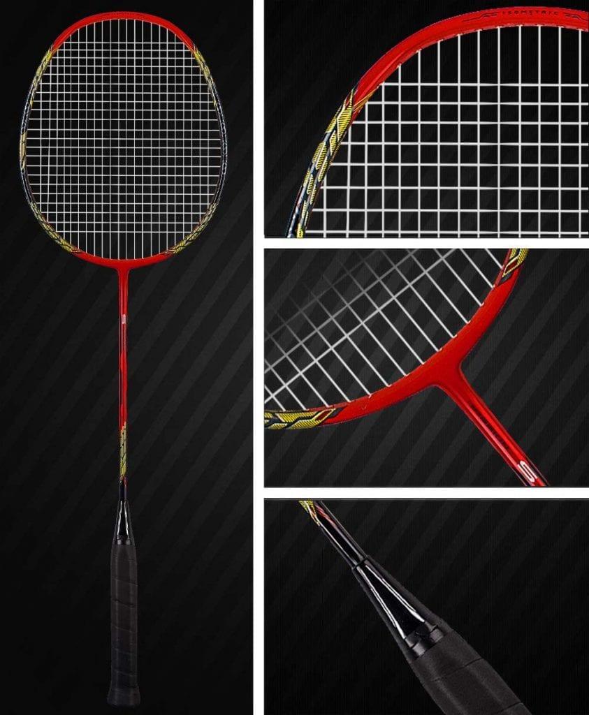 Senston Carbon Shaft Badminton Racket red