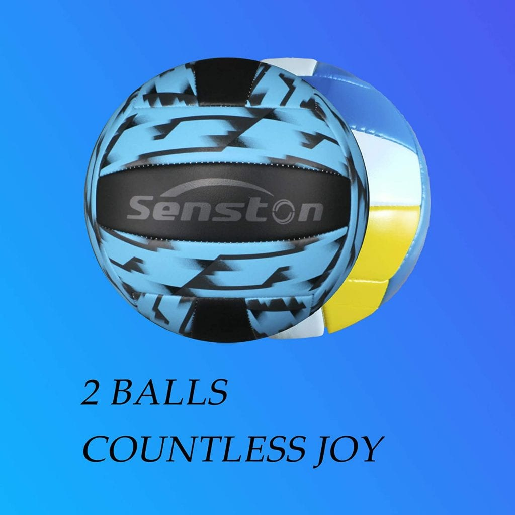 Senston Outdoor Volleyball Net System balls
