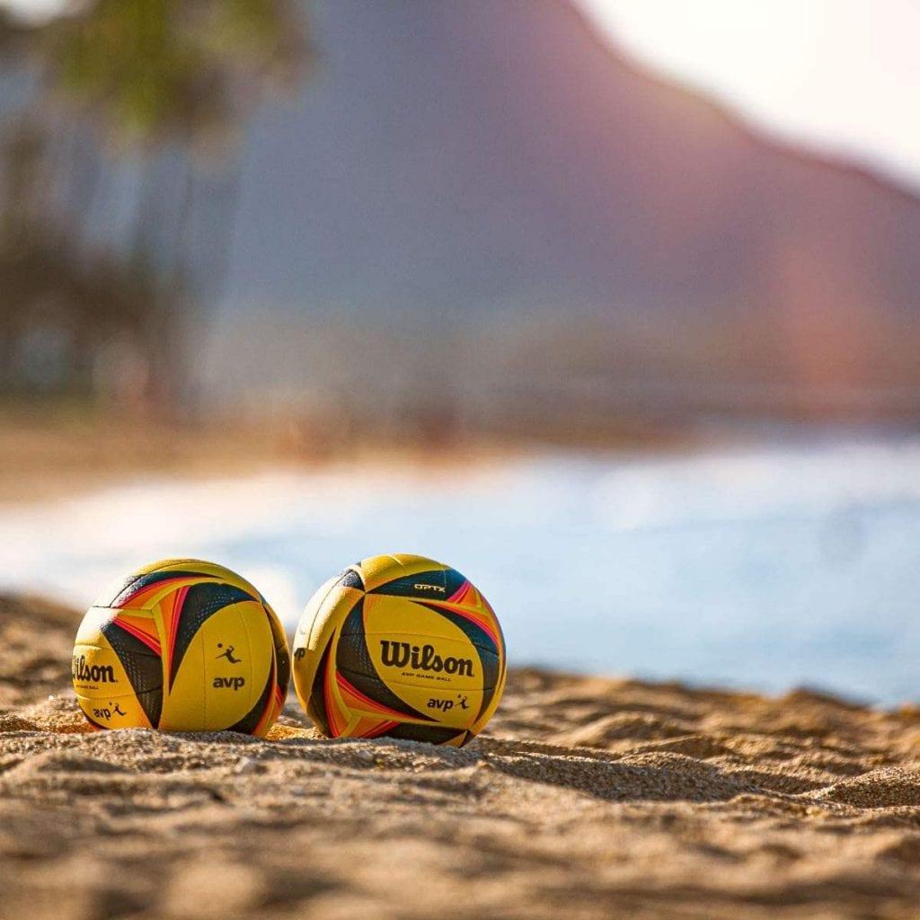 Wilson OPTX AVP balls newest beach volleyballs