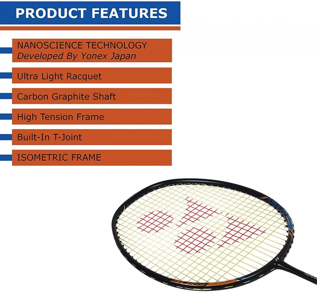 YONEX Nanoray Light 18i Badminton Racquet features