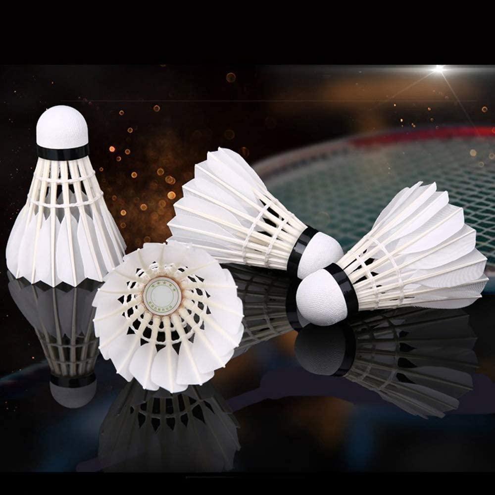 ZHENAN Goose Feather Badminton Shuttlecocks white