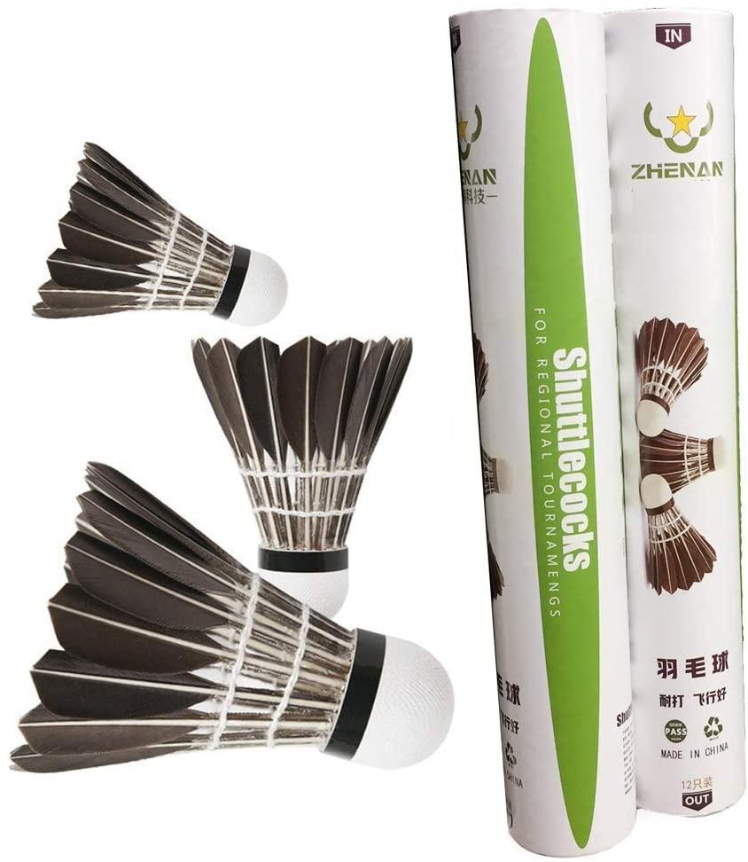 ZHENAN Goose Feather Badminton Shuttlecocks