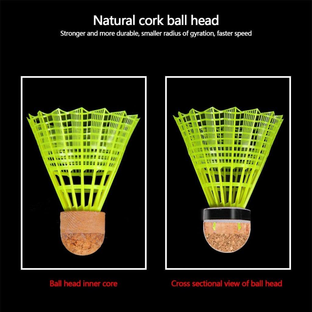 kevenz nylon badminton shuttlecock