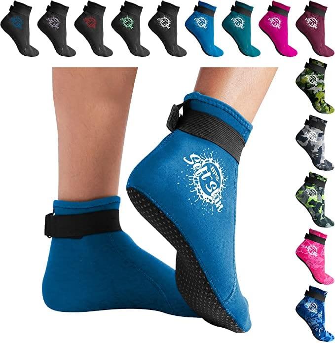 BPS Neoprene Socks blue - Volleyball Sand Socks