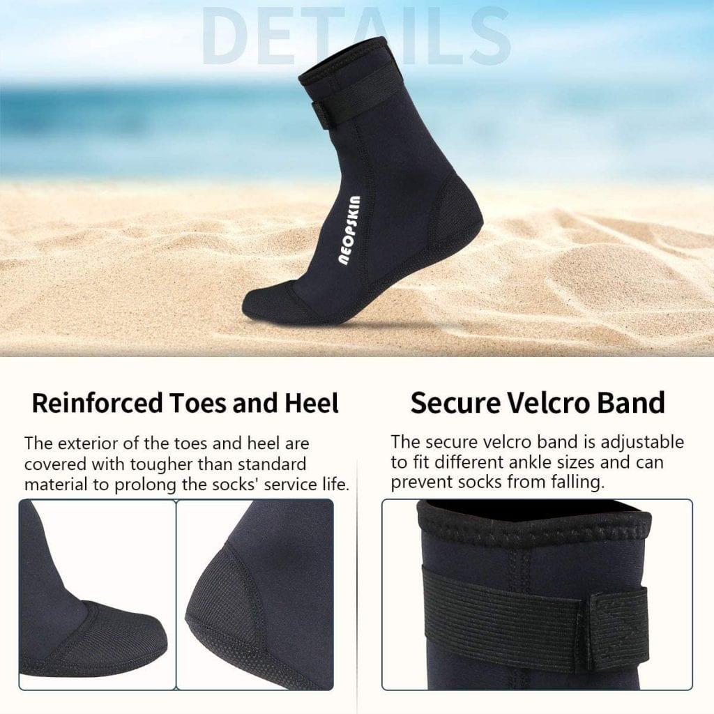 NeopSkin Neoprene Socks features