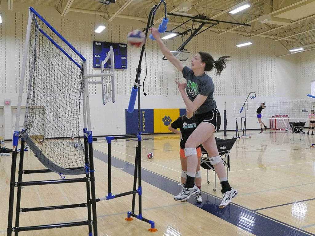 Edge Pro Volleyball Trainer Independent Model with target stand