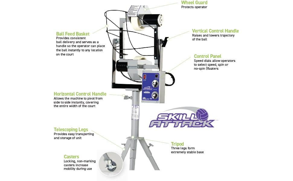 Skill Attack Volleyball Machine parts