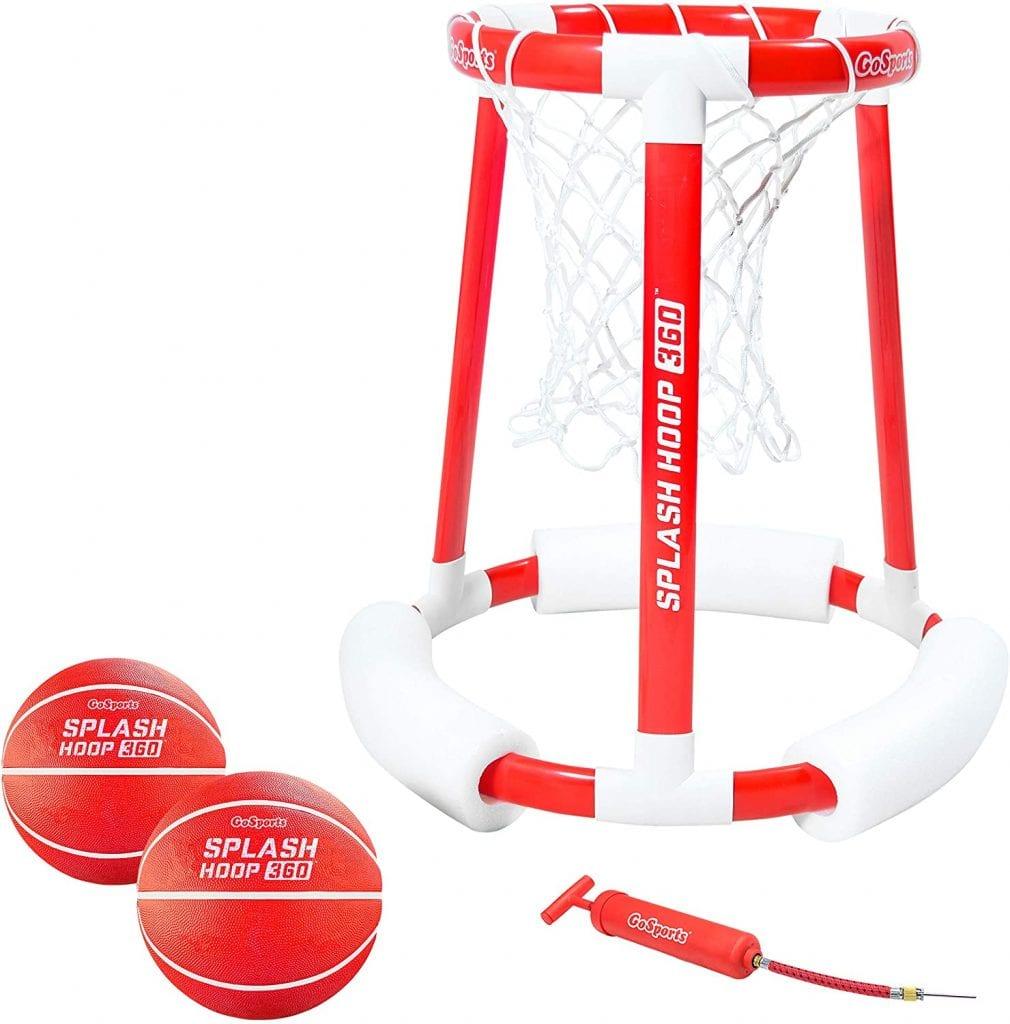 GoSports Splash Hoop 360 Floating Pool Basketball Game and Net